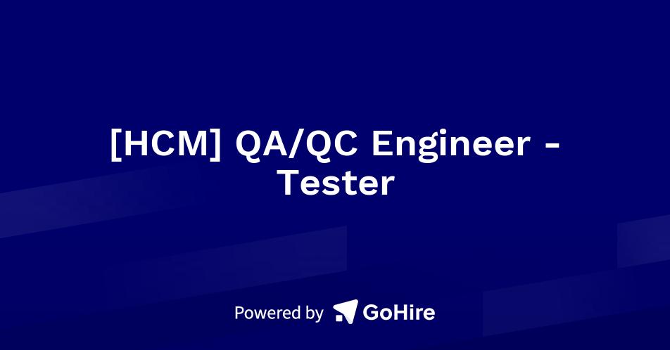 ufg  qa  qc engineer tester at tgm group