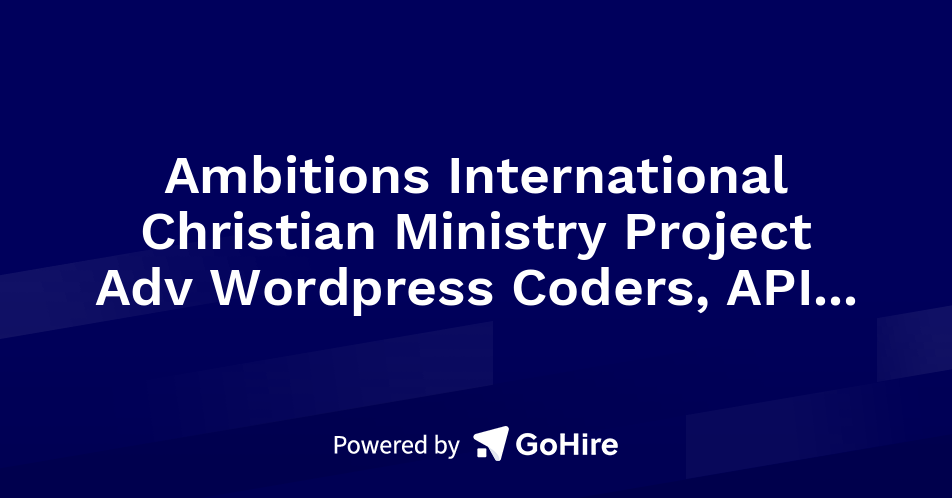 Ambitions International Christian Ministry Project Adv Wordpress